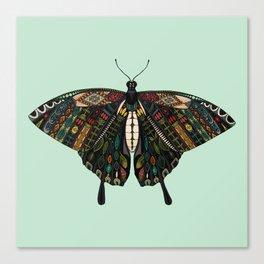 swallowtail butterfly mint Canvas Print