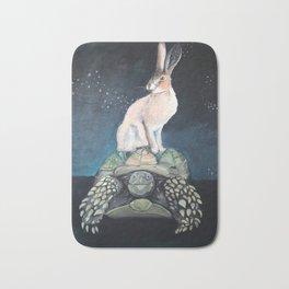 Midnight Tortoise and Hare Bath Mat