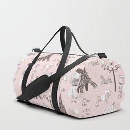 Paris Girl - Pink Duffle Bag