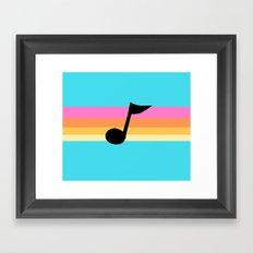 Mabel Music Note Framed Art Print