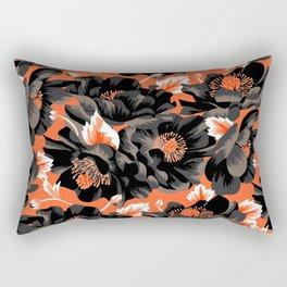 Mount Cook Lily - Orange/Black Rectangular Pillow