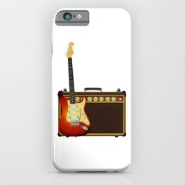 Guitar And Aplifier iPhone Case