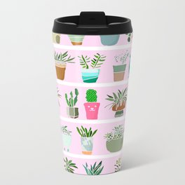 Shelfie cactus print Metal Travel Mug