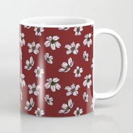 Cherry Blossoms - Crimson Coffee Mug