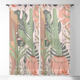 Plant Lady Sheer Curtain