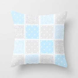Patchwork swirls and spots Throw Pillow