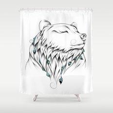 Poetic Bear Shower Curtain