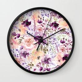 Floral Chaos Wall Clock