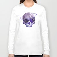 cosmic Long Sleeve T-shirts featuring Cosmic Skull by Terry Fan
