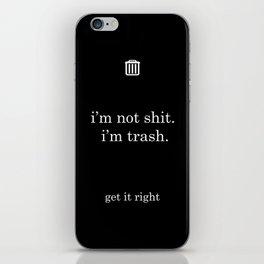 trash: black iPhone Skin