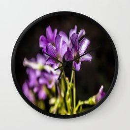 Springtime Blooms Wall Clock