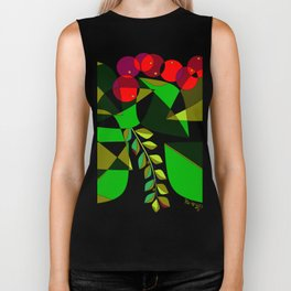 Grapes, Pomegranates, Blue Berries and Olives Biker Tank