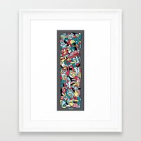 totem Framed Art Prints featuring ToTem by Mister Phil
