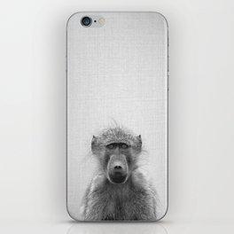 Baboon - Black & White iPhone Skin