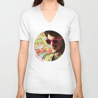 darren criss V-neck T-shirts featuring Colourful Darren Criss by Ines92
