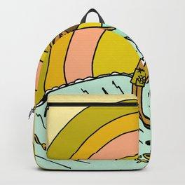 spread sunshine lady slide rainbow surf Backpack
