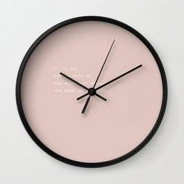 time spent on rose Wall Clock