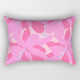 Tropicana Banana Leaves in Preppy Pink + Purple Rectangular Pillow