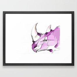 rhino face Framed Art Print