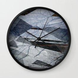 Geometric Abstact Trees Wall Clock