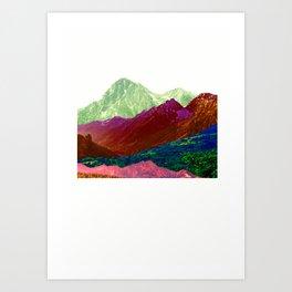 Abstract Mountain Range Collage Art Print