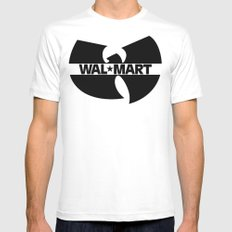 WAL*TANG CLAN MEDIUM White Mens Fitted Tee