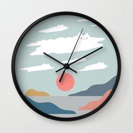 Cat Landscape 23 Wall Clock