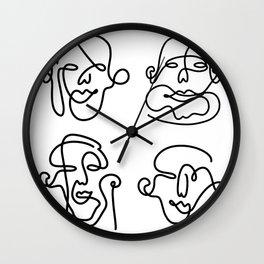 Rostros Wall Clock