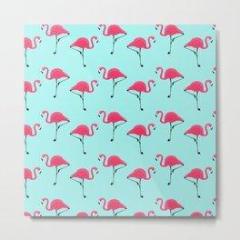 Flamingo Pattern / 1 Metal Print