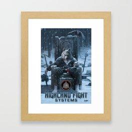 Highland Fight System Framed Art Print