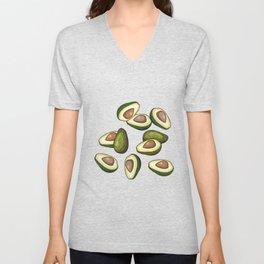 avocado pattern Unisex V-Neck