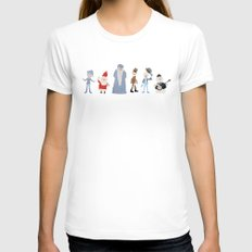 Claymation Lineup  Womens Fitted Tee X-LARGE White