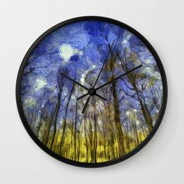 Fantasy Art Forest Wall Clock