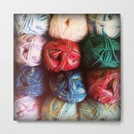 Balls of Yarn Metal Print