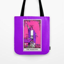 1. The Magician- Neon Dreams Tarot Tote Bag