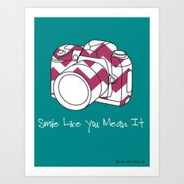 Smile Like You Mean It- 8 x 10 Art Print  Art Print