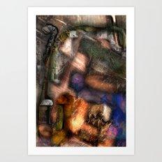 Dowel Art Print