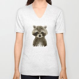 little raccoon Unisex V-Neck