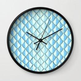 Silver Dragon Scales Wall Clock