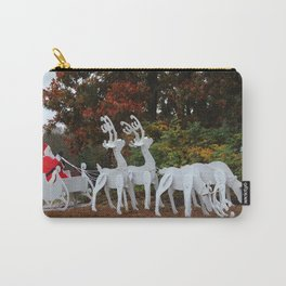 Santa Sleigh And Reindeer Carry-All Pouch