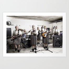 Rock Band Art Print