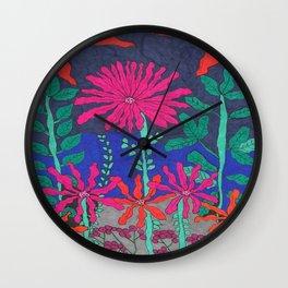Garden: Night Scene Wall Clock
