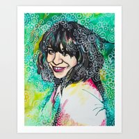 karen hallion Art Prints featuring Karen by Casey Arden Art
