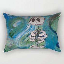 Blue Skelly Dude Rectangular Pillow