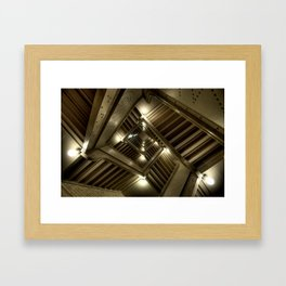 Looking Up the Rabit Hole Framed Art Print