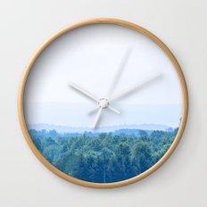 Mountain Blues Wall Clock