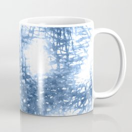 Ink Blue Watercolor Painting Minimalist Design Coffee Mug