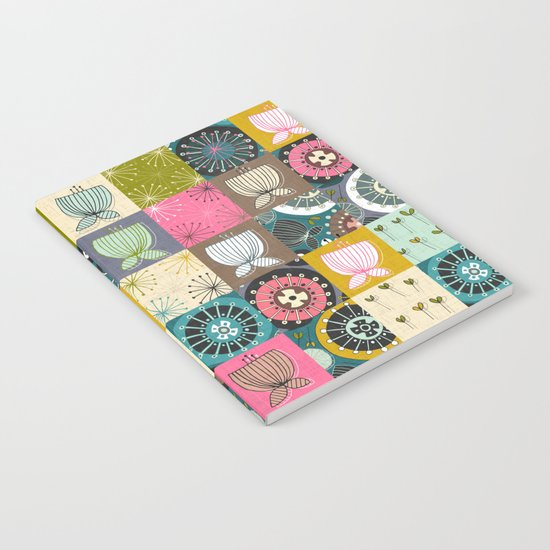 blooms patchwork Notebook