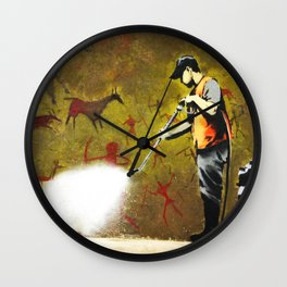 Banksy, Cave Paintings Wall Clock