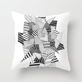abstract crystal Throw Pillow